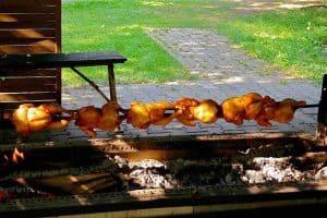 koken op open vuur