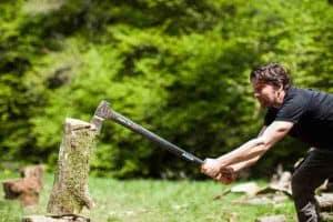 hout hakken Strotzbüschermühle
